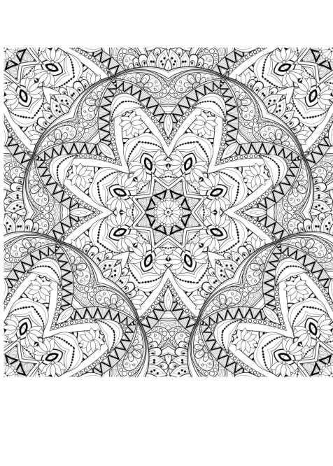 Ausmalbilder  Malvorlagen Muster malen fuer Erwachsene fr Erwachsene