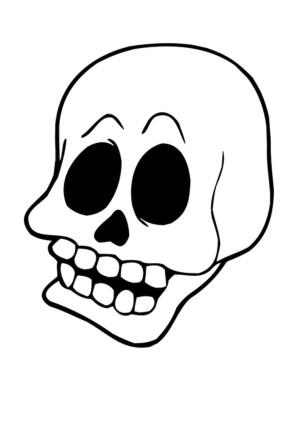 Ausmalbilder Totenkopf - Halloween zum ausmalen