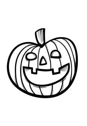 Ausmalbilder Halloween Kürbis Ausmalbild