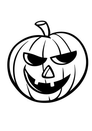 Ausmalbilder Halloween Kürbis2 Ausmalbild