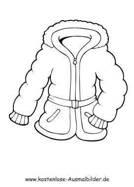 Ausmalbilder Jacke Kleidung Zum Ausmalen Malvorlagen