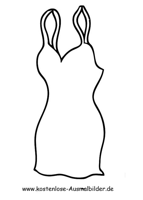 Ausmalbilder Kleid - Kleidung zum ausmalen Malvorlagen