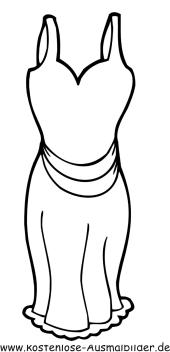 Ausmalbilder Bekleidung Ausmalbild Trägerkleid zum