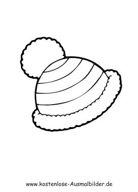 Ausmalbilder Bekleidung Ausmalbild Gestreifte Mütze zum