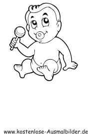 Ausmalbilder Personen Ausmalbild Baby zum Ausdrucken
