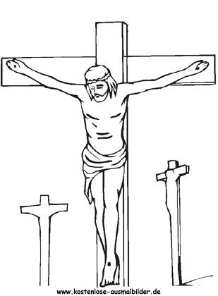 Ausmalbilder Ostern Jesus - Ostern zum ausmalen
