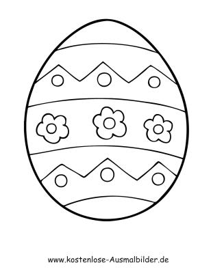 Ausmalbilder Osterei 19 - Ostern zum ausmalen