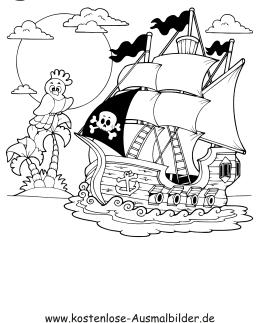 Malvorlage Piratenschiff