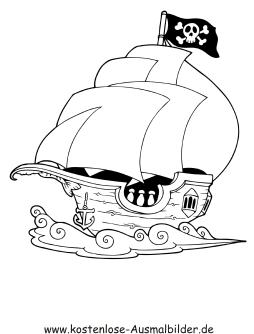 Ausmalbilder Piratenschiff Kostenlos Kinder Ausmalbilder