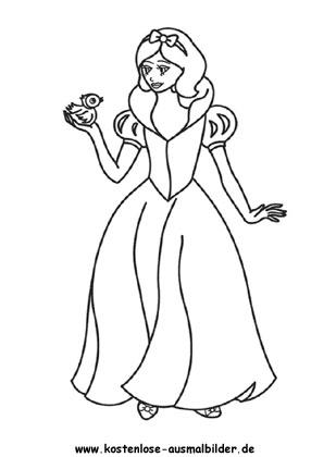 Ausmalbild Prinzessin Prinzessin Ausmalen Malvorlagen Kl