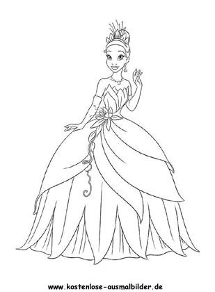 Prinzessin Mit Schoenem Kleid Prinzessin Ausmalen