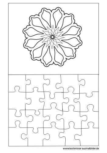 Ausmalbilder Mandala Puzzle Vorlage Puzzle Zum Ausmalen