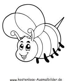 Ausmalbild Biene 3 zum Ausdrucken