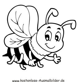 Ausmalbilder Biene - Tiere zum ausmalen Malvorlagen Bienen
