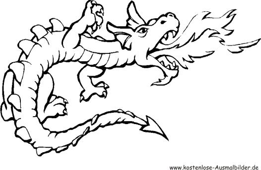 Coole Drachen Malvorlagen