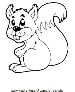 Ausmalbild Eichhörnchen 2 zum Ausdrucken