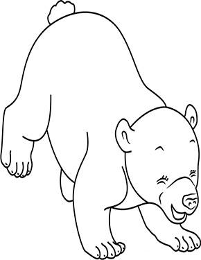 Ausmalbild Baby Eisbär zum Ausdrucken