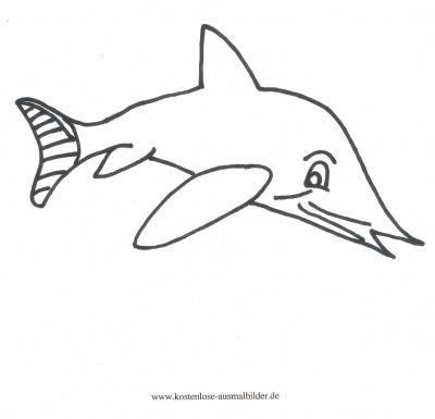 Ausmalbilder Haifisch - Tiere zum ausmalen Malvorlagen
