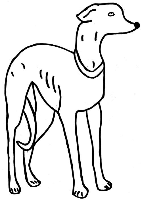 Ausmalbilder Hund 1 - Tiere zum ausmalen Malvorlagen Hunde