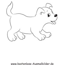 ausmalbilder kostenlos tiere hunde