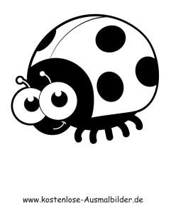 Ausmalbilder Marienkäfer - Tiere zum ausmalen