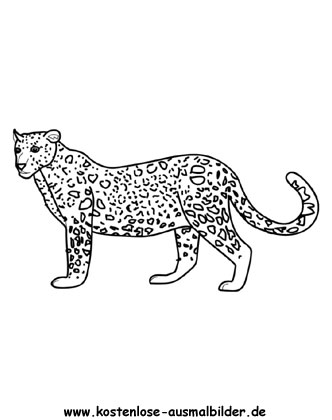 Ausmalbilder Leopard 2 - Tiere zum ausmalen Malvorlagen