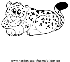 Ausmalbilder Leopard - Tiere zum ausmalen Malvorlagen