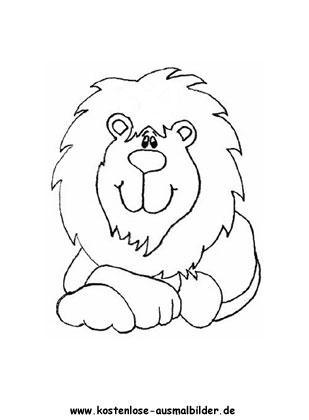 Ausmalbild Löwe 5 zum Ausdrucken