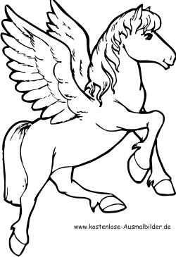 Ausmalbilder Pegasus - Tiere zum ausmalen Malvorlagen Pferde