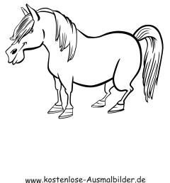 Ausmalbilder Pony - Tiere zum ausmalen Malvorlagen Pferde