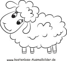 Ausmalbilder Schaf 4 - Tiere zum ausmalen Malvorlagen Schafe