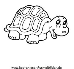 Ausmalbilder Schildkröte 2 - Tiere zum ausmalen
