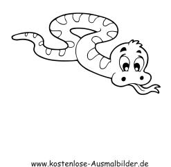 Ausmalbilder Schlange 2 - Tiere zum ausmalen Malvorlagen