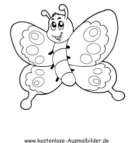 Ausmalbilder Schmetterling 4 - Tiere zum ausmalen