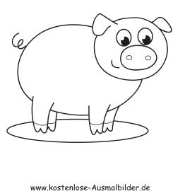 Ausmalbilder Schwein 4 - Tiere zum ausmalen Malvorlagen