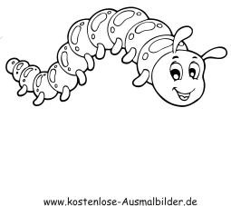 Ausmalbilder Raupe 1 - Tiere zum ausmalen Malvorlagen