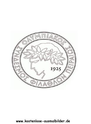 Olympiakos Piraeus Vereinswappen Fussball Ausmalen
