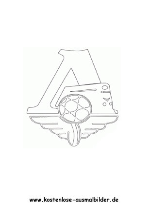 Lokomotive Moskau - Vereinswappen-Fussball ausmalen