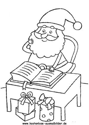 Nikolaus - Weihnachten ausmalen Malvorlagen Nikolaus