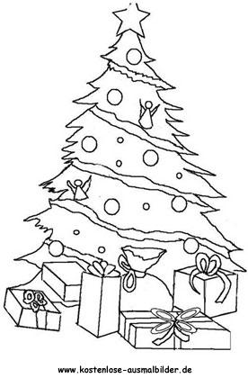 Ausmalbilder Weihnachtsbaum