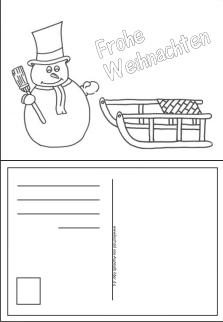 Weihnachtskarten ausdrucken Weihnachtskarten ausmalen