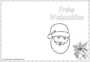 Weihnachtskarten ausdrucken   Weihnachtskarten ausmalen ...
