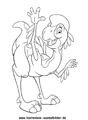 Ausmalbilder - Malvorlagen Littlefoot - Malvorlage Littlefoot