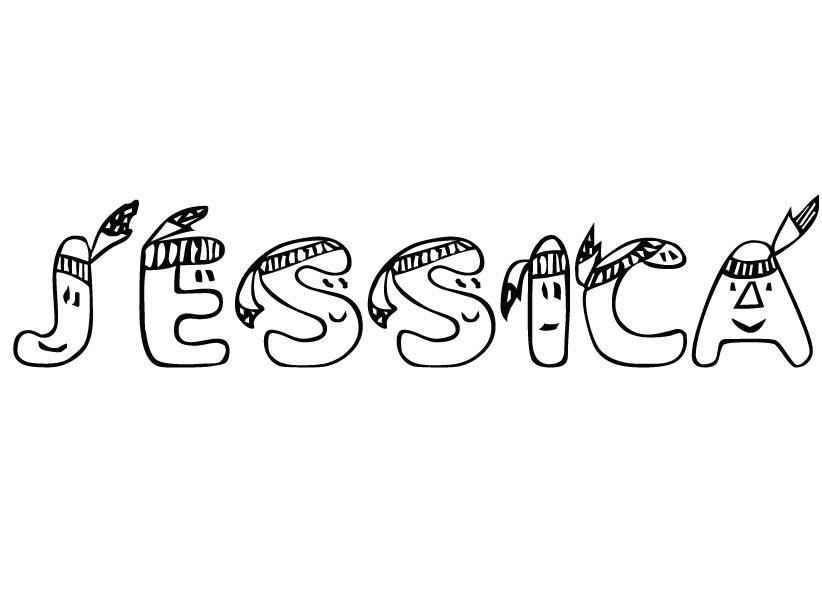 Malvorlagen - Ausmalbilder Jessica Namen zum Ausdrucken