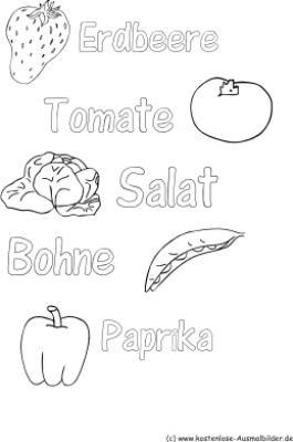 Ausmalbilder Obst Und Gemse Ausmalbilder Obst Und