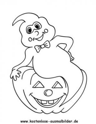 Malvorlagen Halloween Gespenst