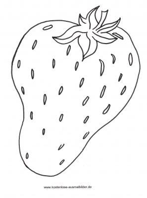 Malvorlagen - Ausmalbilder Erdbeere Ausmalbilder Obst