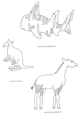 Tiere Australien Tiere Australien Ausmalen Ausmalbilder