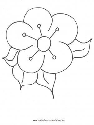 Malvorlage Blüte