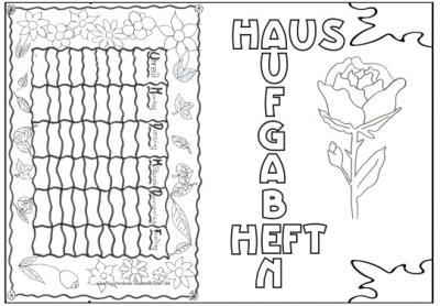 Deckblätter Vorlagen Schule Deckblätter ausmalen